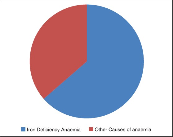Figure 1: Pie chart showing causes of anemia in pregnant women in Zaria