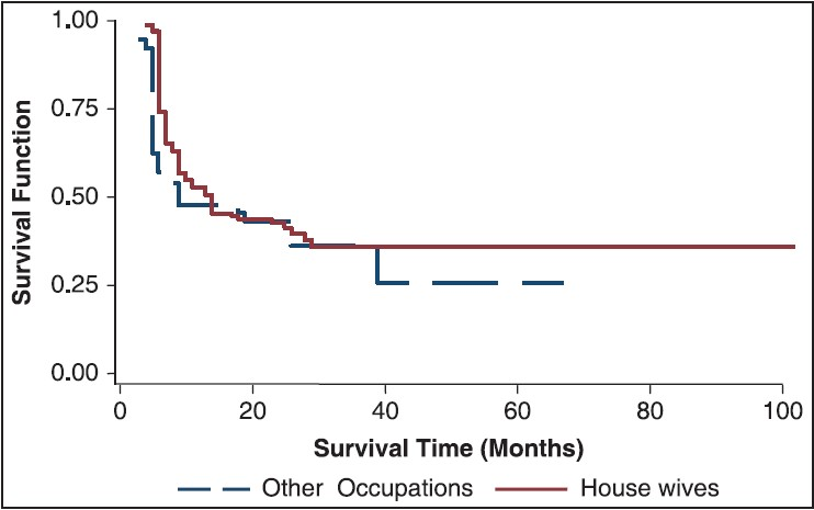 An application of Kaplan-Meier survival analysis using